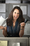 Screaming Office Worker Stock Images