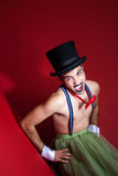 Screaming Performer Royalty Free Stock Photo