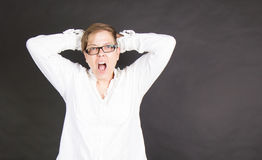 Screaming person Royalty Free Stock Photography