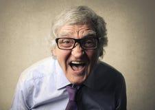 Screaming portrait Stock Image