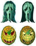 Screaming pumpkins, Halloween vector illustration Stock Photos