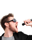 Screaming rocker guy Royalty Free Stock Image