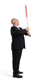 Screaming senior businessman Royalty Free Stock Image
