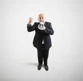 Screaming senior businessman Stock Photography