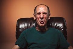 Screaming Senior Man Royalty Free Stock Images