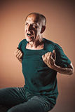 Screaming Senior Man Stock Photos