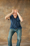 Screaming Senior Man Royalty Free Stock Photos