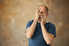 Screaming Senior Man Royalty Free Stock Image