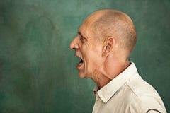 Screaming Senior Man Stock Photo