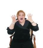Screaming senior woman. Royalty Free Stock Image