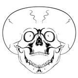 Screaming skull Stock Photo