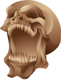 Screaming skull isolated Stock Image