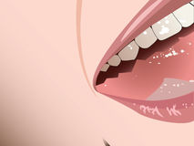 Screaming Smiling Mouth. A detail of a face that looks as if it is screaming or shouting or laughing stock illustration