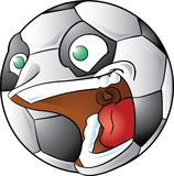 Screaming soccer ball Stock Photo