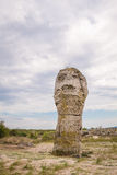 Screaming Soldier. Stone Forest, Bulgaria. Screaming Soldier - vertical view Royalty Free Stock Photography