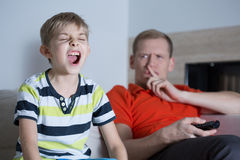 Screaming son Royalty Free Stock Images