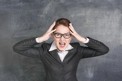 Screaming teacher Royalty Free Stock Images