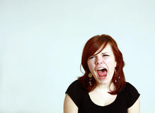 Screaming teen girl Royalty Free Stock Image