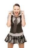 Screaming teenage girl Royalty Free Stock Images