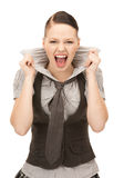 Screaming teenage girl Royalty Free Stock Image