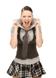 Screaming teenage girl Royalty Free Stock Images