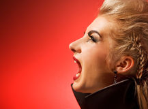 Screaming vamp woman. Picture of a Screaming vamp woman Stock Image