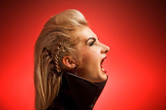 Screaming vamp woman Stock Image