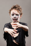 Screaming walking dead zombie child boy Stock Photography