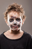 Screaming walking dead zombie child boy Stock Image