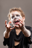 Screaming walking dead zombie child boy Royalty Free Stock Images