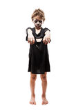 Screaming walking dead zombie child boy halloween horror costume Stock Photos