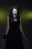 Screaming witch Stock Photo