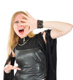 Screaming witch Stock Photography