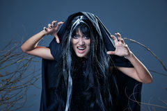 Screaming witch Stock Photos