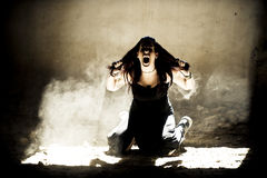 Screaming woman Royalty Free Stock Images