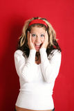 Screaming woman Stock Image
