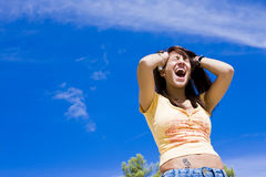 Screaming woman Royalty Free Stock Photo