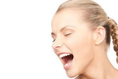Screaming woman Royalty Free Stock Photos