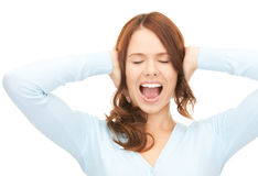 Screaming woman Royalty Free Stock Image