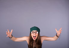 Screaming woman Royalty Free Stock Image