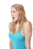 Screaming woman Stock Photos