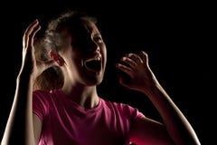 Screaming woman Royalty Free Stock Photo