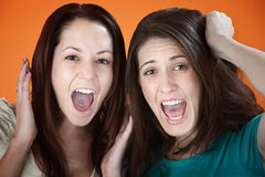 Screaming Women Royalty Free Stock Photography