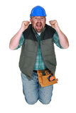 Screaming workman Royalty Free Stock Photos