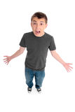 Screaming yelling boy Royalty Free Stock Images