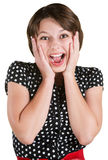 Screaming Young Female Stock Photography