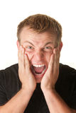 Screaming Young Man Stock Photo