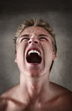 Screaming Young Man stock photos