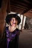 Screaming Young Witch Royalty Free Stock Images