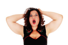 Screaming young woman. Royalty Free Stock Photos